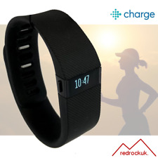 Fitbit Charge Fitness Activity Tracker Wristwatch Pedometer - Black - Large
