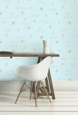 Twilight Wallpaper By Arthouse Moon Stars Teal Metallic Shiny Silver Luxury