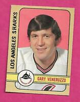 1972-73 OPC WHA # 330 SHARKS GARY VENERUSSO HIGH #  VG CARD (INV# C1882)