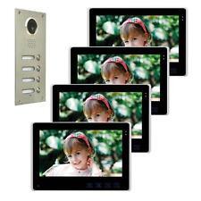 """Mehrfamilienhaus Farb Video Türsprechanlage 10"""" Monitor LED Nachtsicht Cam 110°"""