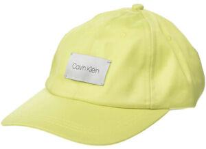 CALVIN KLEIN Satin / White Logo Adjustable Women Baseball Cap RETAIL $34