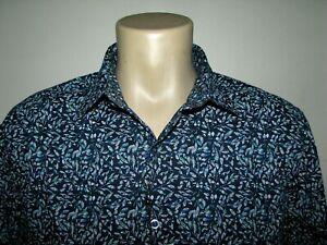 "Men's (M) ROBERT GRAHAM ""OROFINO"" STRETCH Shirt (Leaves)"