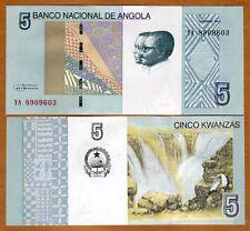 Angola, 5 Kwanzas, 2012 (2017), P-New, UNC > Ruacana Falls