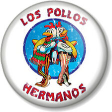 "Los Pollos Hermanos 1"" Pin Button Badge Walter White Heisenberg Breaking Bad"