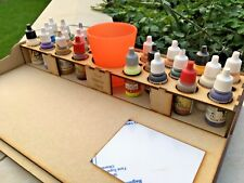 HobbyBench and Paint Storage Rack 22 pots Vallejo Warpaint RIGHT HAND