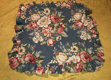 One 1 Ralph Lauren Blue Floral Ruffled Euro Pillow Sham Cotton Sateen 60873 25�