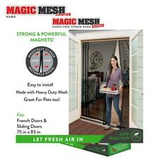 Magic Mesh Double Door- Hands Free Magnetic Screen Door, Fits French &...