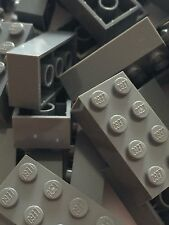 New Lego Bulk lot of 50 2x4 Bricks Dark Bluish Grey Gray Dark Grey