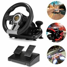PXN V3II Racing Game Steering Wheel w/ Braking Pedal for PC PS3 PS4 Xbox One