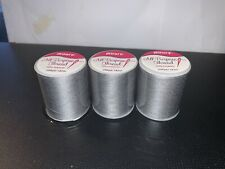 Lot Of 3 spools sewing thread (200 yards each) 100% Polyester, All Purpose, Gray
