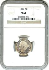 1906 Liberty Nickel in PROOF 64 condition GRADED BY NGC. Mintage of 1,725 coins