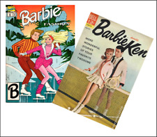 2 Miniature OPENING  'BARBIE & KEN'  Comics  - Barbie Doll size 1:6 playscale