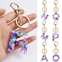 Letters Keychain English Alphabet Keyring Handbag Pendant Women Jewelry Gift