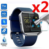 2Pcs Premium Tempered Glass Screen Protector Film For Fitbit Blaze Smart Watch^^