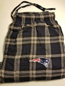 New England Patriots Football Flannel Pajama Pants Lounge Bottoms Men's