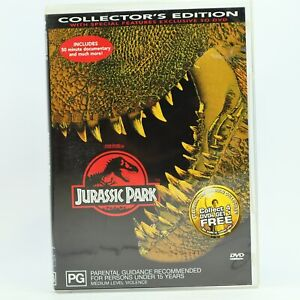 Jurassic Park Collectors Edition Steven Spielberg DVD GC Free Tracked Post