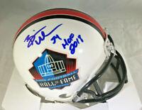 BRIAN URLACHER / NFL HALL OF FAME / AUTOGRAPHED HALL OF FAME MINI HELMET / COA