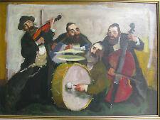 "Israeli Art - Israel - A. Adler - MUSICIAN - Oil on Canvas -  27.5"" x 19.5"""