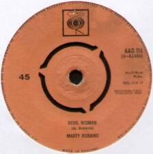 "MARTY ROBBINS ~ DEVIL WOMAN / APRIL FOOL'S DAY ~ 1962 UK 7"" SINGLE ~ CBS AAG 114"
