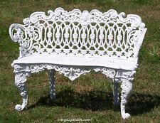 New listing Victorian French Minerva Garden Bench - Antique Retro. Patio Furniture Aluminum