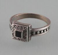 9901144 925er Silber Ring mit Onyx und Swarovski-Steinen Gr. 52