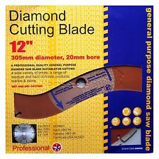 "NEW 12"" 305 MM 20 MM BORE PROFESSIONAL UNIVERSAL DIAMOND CUTTING DISC GRINDER"