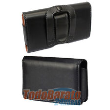 Funda cuero Galaxy S SCL PLUS LG L7 P700 L3 P400 advance i9070 NEGRA CINTURON