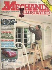 Mechanix Illustrated Magazine Dec 1982 How To Dining Room Redo & Auto Repairs