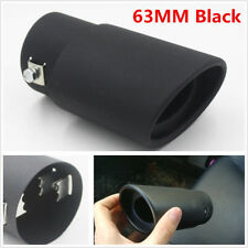 Black Stainless Steel Car Exhaust Tail Pipe Styling Supercharger Noise Reduction