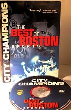 City of Champions Boston Sports Greatest Moments DVD Red Sox Patriots Bruins New