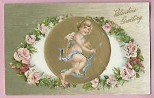 "Vintage Postcard ""Valentine Greeting"", Embossed"
