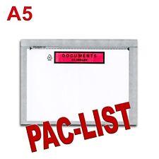 """100 Pochettes """"Documents ci-inclus"""" PAC-LIST"""" A5"""