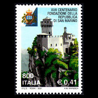 Italy 2001 - Foundation of the Republic of San Marino Castle - Sc 2415 MNH