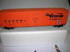 "Weaver  ""D&RGW "" Box Car used no box , one step is cracked lot # 4174"