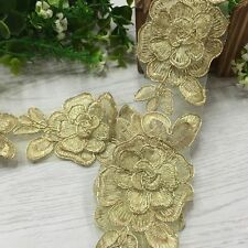 Lace Flower Embroidery Craft DIY Sewing Applique Wedding Bridal Dress 2 Yards