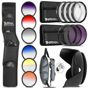 13 PC Complete Accessory Kit for Canon T5i 70D 80D 6D & Nikon D3300 D3400 D5500
