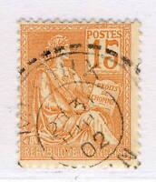 """FRANCE - 1902 - CàD Facteur-Boîtier T.1884 """" MIJOUX / AIN """" sur Yv.117"""
