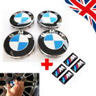 Set Of 4 Bmw Wheel Centre Caps Fits Most 1 3 5 7 Series 68mm + 4x M Stickers