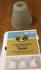 Hampton Bay Tavish 3,4-Light Brushed Nickel Bath Light Bar Glass Shade Only