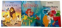 Walt Disney's The Lion King The Little Mermaid Sleeping Beauty Lot of 3 Books