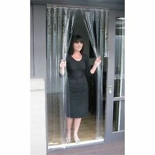 Zone Hardware PVC DOOR CURTAIN 900x2000mm CLEAR *Australian Brand – 0.5mm Or 1mm