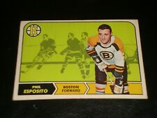 PHIL ESPOSITO 1968, Topps #7, BOSTON BRUIN, Hockey Card, Printed in Canada