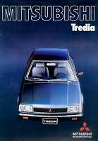 Mitsubishi Tredia Prospekt 1983 9/83 brochure Autoprospekt prospectus brosjyre
