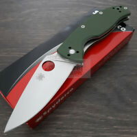 "Spyderco Tenacious Folding Knife 3.38"" 8Cr13MoV Steel Blade Green G10 Handle"