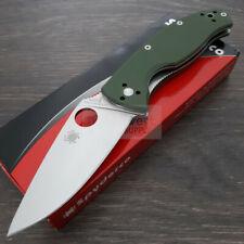 "Spyderco Tenacious Folding Knife 3.38"" 8Cr13MoV Steel Blade Green G10 Handle"