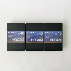 x3 Sony BCT-40HD 40 Min HDCAM Video Tapes - Metal Tape - Opened, Never Used.