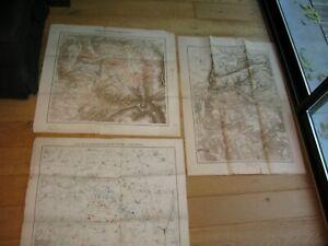 3 Cartes Colombey Nouilly Metz Loigny Poupry Vionville Mars la Tour guerre 1871