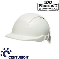 Centurion Concept White Reduced Peak Safety Work Helmet Vented Hard Hat Light