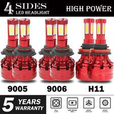 9005+9006+H11 6000K 1035000LM Combo 4-Side CREE LED Headlight Kits High Low Bulb