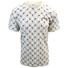 FILA Men's Beige Cube S/S T-Shirt (S06A)